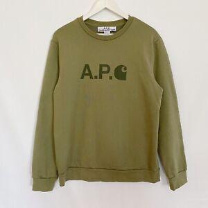 Carhartt WIP x APC Ice Logo Sweatshirt Crewneck Jumper Mens Large