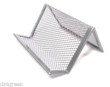 Office Desk Metal Wire Mesh Business Card Display Holder Stand Silver