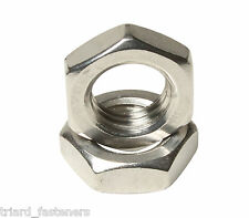 M8 (8mm) Hexagon Half Nut Stainess Steel A2 - DIN 439 - 10PK