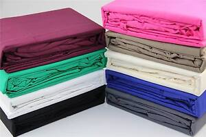 KING BED 50CM DROP 375THREAD COTTON FITTED SHEET