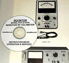 Boonton 91H, 91Hr Sensitive Rf Voltmeter, Operating & Service Manual