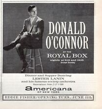 1963 New York Theatre Print Ad 'The Royal Box' features Donald O'Connor