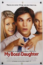 MY BOSS's DAUGHTER - Ashton Kutcher - Original Movie Poster - 2003 Rolled DS C9