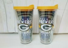 Tervis Green Bay Packers Tumblers - Set of 2 - 24 oz with lids