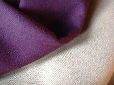 "NEW Designer Reversible Magenta / Camel Wool fabric 61"" 154cm Cloth Craft Sew Ja"