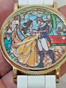 Disney Beauty and the Beast Stained Glass Watch ~ TESTED ~ Ships FREE