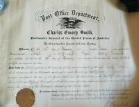 US Missouri Postmaster Appointment General Signed Document Charles E. Smith 1901