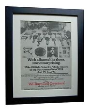 MIKE OLDFIELD+William Tell+POSTER+AD+FRAMED+1977+RARE ORIGINAL+FAST GLOBAL SHIP