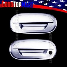 For Ford F150 1997-2000 2001 2002 2003 Chrome 2 Door Handle Covers w/out PK+Pad