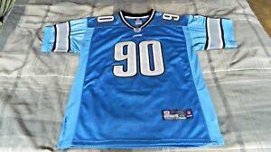 Ndamukong Suh Detroit Lions Jersey (Reebok Onfield, Size 48, NFL Equipment)