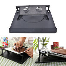 Laptop HolderCooling 360° Rotation Stand Mount Notebook Table Desk Swivel Tray