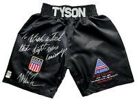 "Mike Tyson Signed Inscribed Trunks vs. Buster Douglas  #D/58 JSA COA ""Tyson Vs."""