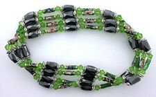 36 Inch Green Crystal Cloisonne Hematite Magnetic Wrap Bracelet Necklace m36ibn9
