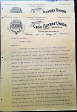 Bicycle 1898 Letterhead Set: Cash Buyers' Union Cycles, Buggies, Saddles, Wagons