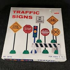 Vintage Torus Toys Wooden Traffic Signs With Original Box