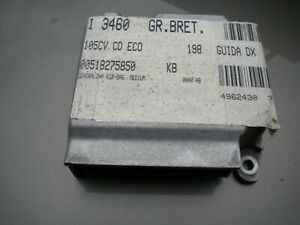 FIAT BRAVO 1.6 DYNAMIC MK 2  AIR BAG  AIRBAG ECU CONTROL MODULE UNIT 00518275850