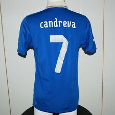 Candreva Italia Match Worn vs Francia UNWASHED Maglia Indossata 2012 Size L