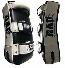 RAD Thai Focus Pads Kick Shield MMA Training Arm Punch Mitt Curved Strike Boxing