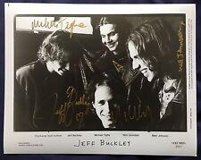 Jeff Buckley Band Hand Signed Grace Hallelujah Autograph Press Photo 8x10