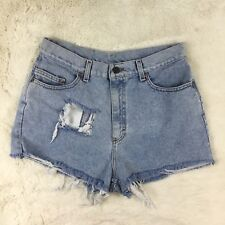 Lee Womens Vintage Jean Shorts Denim High Waist Mom Jeans Light Wash Size 15