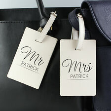 Personalised Mr and Mrs Luggage Tags Wedding, Honeymoon, Holiday, Couples Gift