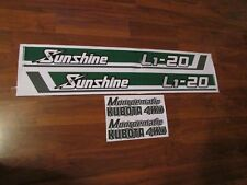 Kubota L1-20 decal sunshine tractor decal set