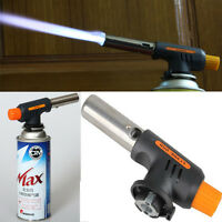 NEW GAS TORCH BUTANE BURNER AUTO IGNITION CAMPING WELDING FLAMETHROWER BBQ TOOLS
