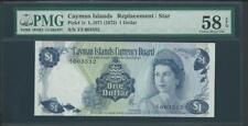 1971 CAYMAN ISLANDS REPLACEMENT/STAR S/N Z/I 003532 PMG 58 EPQ PLEASE LQQK!!*
