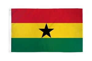 Ghana flag 2X3ft poly