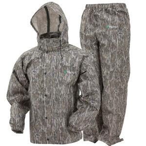 Camo Frogg Toggs All Sport Rain Suit Bottomland Gear Jacket & Pants S SM