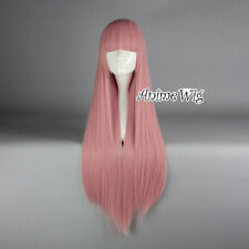 Blue/Red/Purple/Pink/Green Long 80CM Straight Women Cosplay Wig with Bang