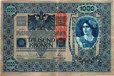 Österreich / Austria 1000 Kronen 1902 (1919) Pick 59 (3)