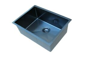 #304 Handmade Stainless Steel Kitchen Sink / Laundry Tub (62cm x45cm) PVD Black