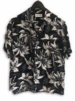 Saint Laurent Paris SS14 Black Hawaiian Shirt Size 38
