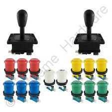 2 Player Arcade Control Kit 2 Bat Top Joysticks 14 Buttons Mixed Colours JAMMA