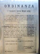 WW2 1943 ANAGNI CICLOSTILE NEGATIVO VOLANTINO OCCUPAZIONE NAZISMO RADIO FASCISMO