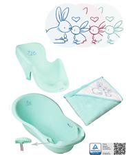 Baby Badewanne mit Badesitz + Badetuch Süße Kaninchen Tega ® BABYWANNE