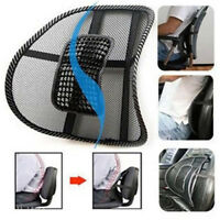 MESH BACK SUPPORT LUMBAR LOWER BACK CUSHION PAIN RELIEF CAR SEAT OFFICE SEAT UK