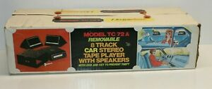 Electrophonic TC-72 removable 8-Track Car Stereo Player with Speakers NIB