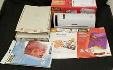 3m Thermal Laminator Tl902 Lot With 200 Multiple Sized Laminating Pouches