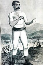 Boxing Boxer 1884 JACK KILRAIN HEAVY WEIGHT PUGILIST CHALLENGES ANY FIGHTER Art