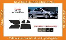 pellicola oscurante vetri pre tagliata peugeot 206 cc  dal 2001-2008