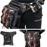 Men Women Leather Steampunk Belt Bag Waist Leg Hip Holster CyberRock Travel Bag