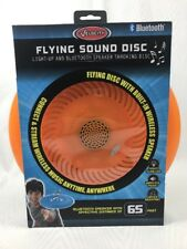 Flying Sound Disc - Light-Up and Bluetooth Speaker Throwing Disc Orange Frisbee