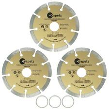 "3x 115mm 4.5"" Diamond Angle Grinder Grinding Stone Brick Concrete Cutting Disc 3"