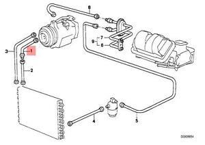 Genuine BMW E28 Sedan Refrigerant Discharge Hose Line OEM 64531375972