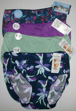 4 Jockey Hip Brief Panty Set 1372 Tactel No Line 6 M Green Purple Blue Floral