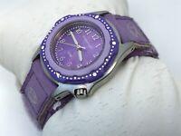 FreeStyle Women Watch Purple Floral Sport Fabric Band Analog Rotaing Bezel Wrist