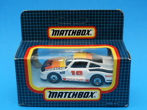 1986-88 Matchbox 1-75 Series car in original box : MB41 Racing Porsche - White