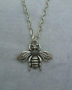 Tibetan Silver BUMBLE BEE Pendant with Necklace - Gift/Present. Honeybee.